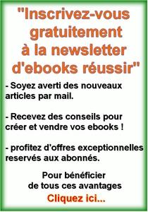 creer et vendre des ebooks newsletter